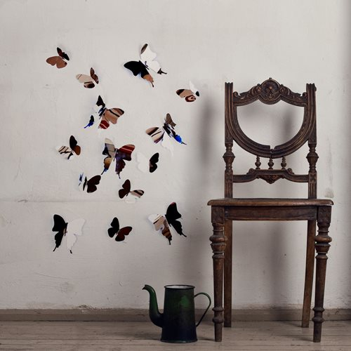 Walplus 3D Dekoration Wandaufkleber - 3D Schmetterlinge Spiegel