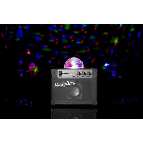 Fizz Creations Party Amp Amplifier with Rotating Disco LED Lights - Black