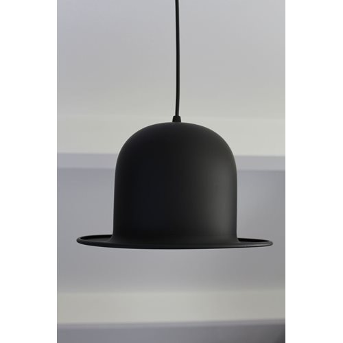 United Entertainment Bowler Hat Hanging Lamp - Black Goldcolour foil