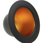 United Entertainment Bowler Hat Hanging Lamp - Black Goldcolour foil