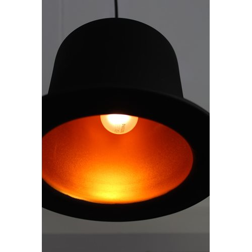 United Entertainment Top Hat Hanging Lamp - Black Goldcolour foil