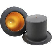 United Entertainment Top Hat Hanging Lamp - Black Goldcolour foil