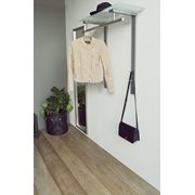 Spinder Design Dutch Garderobe mit Mattem Glas - Nickel