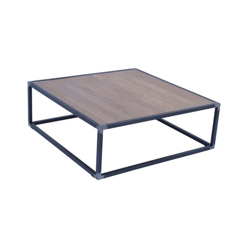 Spinder Design Diva Coffee Table 100x100x35 - Blacksmith/Oak