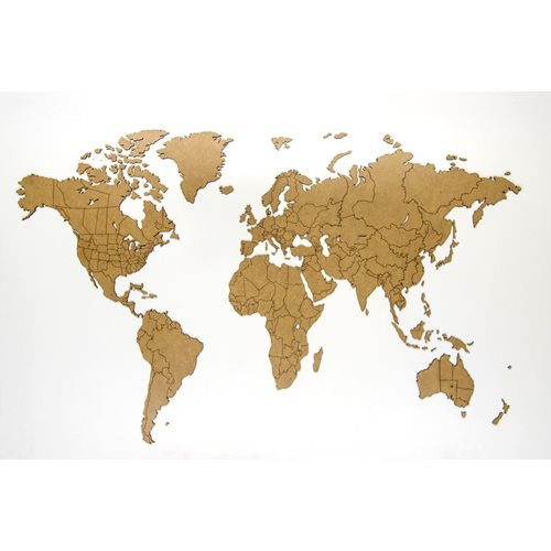 MiMi Innovations Luxury Wooden World Map - Wall Decoration - True Puzzle - 100x60 cm/39.4x23.6 inch - Base