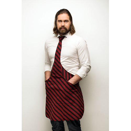 Tie & Apron Chef Black-Bordeaux Striped
