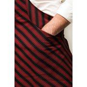 Tie & Apron Chef Black-Bordeaux Striped