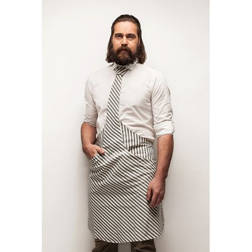 Tie & Apron Chef White-Blue Striped