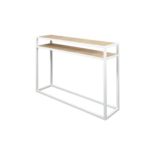 Spinder Design Diva Side Table 30x120x90 - White/Oak