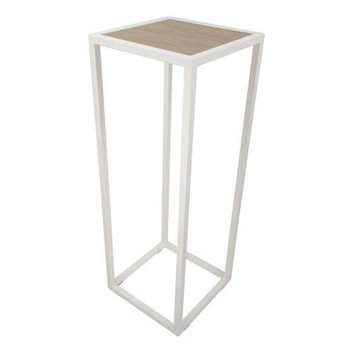 Spinder Design Diva Pilar 40x40x110 - Weiß/Eiche