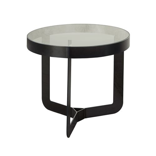Spinder Design Douglas 2 Side Table ø 41x40 - Blacksmith/Transparent Glass