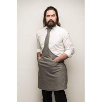 Tie & Apron Stropdas Schort Chef Grijs