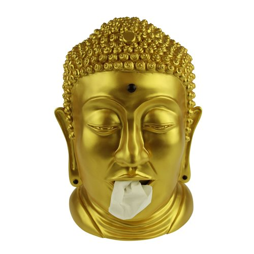 Rotary Hero Buddha Tissue box Holder - Gold