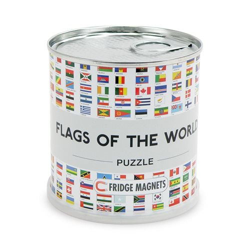 City Puzzle Magnets - Flags of the World
