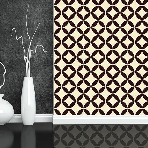 Walplus Wall Mural Decoration Sticker - Circle Star Pattern 4 sheets