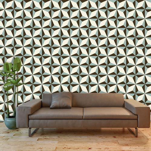 Walplus Muur Decoratie Sticker - Noordster Patroon 4 x stickervel
