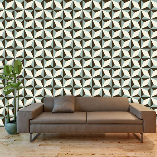 Walplus Wall Mural Decoration Sticker - North Star Pattern 4 sheets
