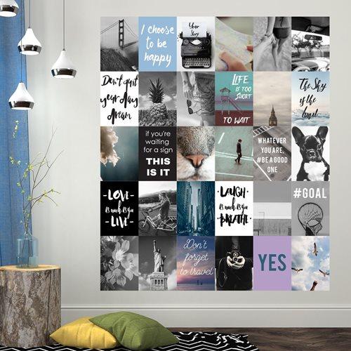 Walplus Wandgemälde Art Aufkleber - Foto und Zitat Collage