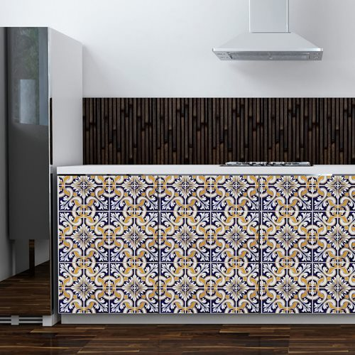 Walplus Wall Mural Decoration Sticker - Talavera Tiles 6 sheets