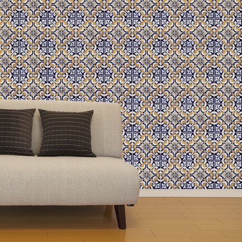 Walplus Wall Mural Decoration Sticker - Talavera Tiles 8 sheets