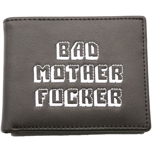 United Entertainment Original Bad Mother Fucker Wallet - With Coin Pocket - Black