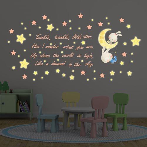 Walplus Kids Decoration Sticker - Twinkle Twinkle Little Star with 20 Swarovski Crystals