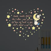 Walplus Kids Decoration Sticker - Twinkle Twinkle Little Star with 20 Swarovski Crystals