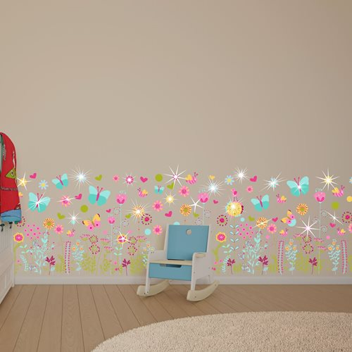 Walplus Kids Decoration Sticker - Colourful Summer Skirting with 20 Swarovski Crystals
