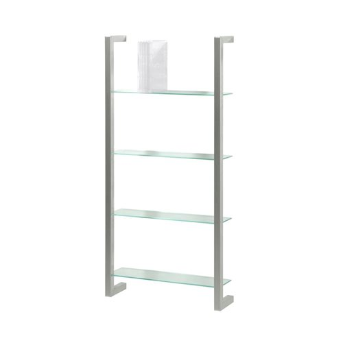 Spinder Design Cubic Wall rack with 4 Shelves - Nickel