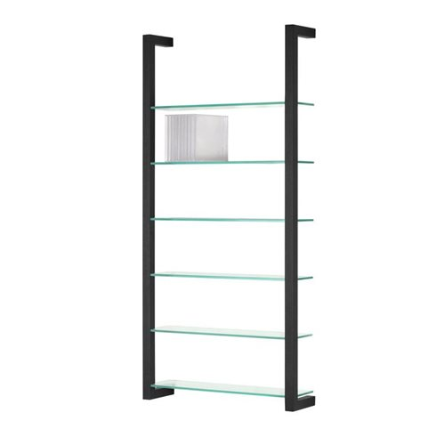Spinder Design Cubic Wall rack with 6 Shelves - Black