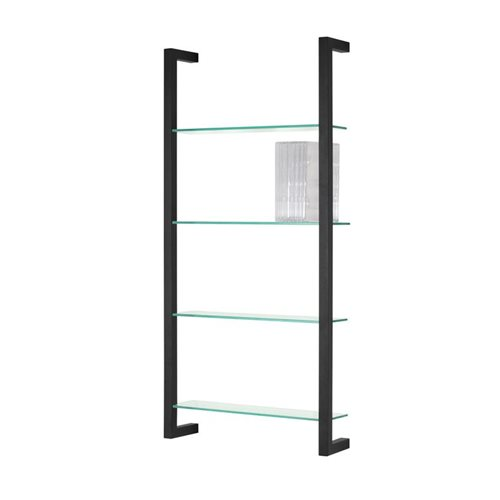 Spinder Design Cubic Wall rack with 4 Shelves - Black
