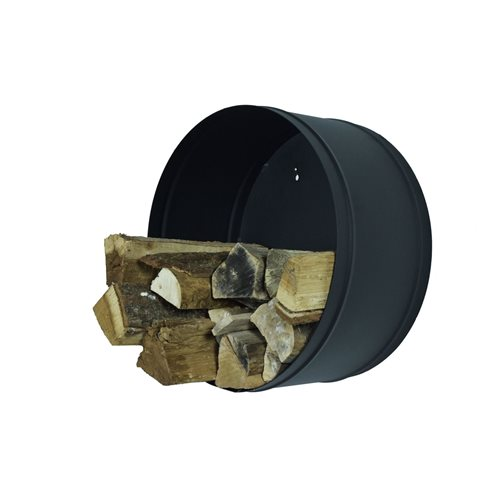 Spinder Design Banshee - Fire Wood Storage 50 cm - Black Structure