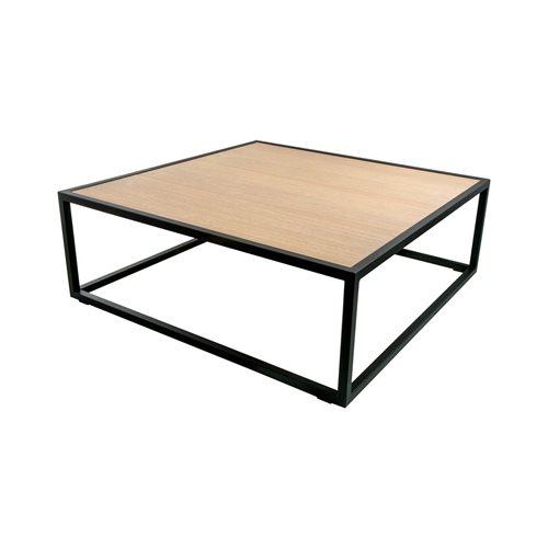 Spinder Design Diva Salontafel 100x100x35 - Zwart/Eiken