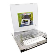 United Entertainment Portable BBQ Notebook - Stainless Steel