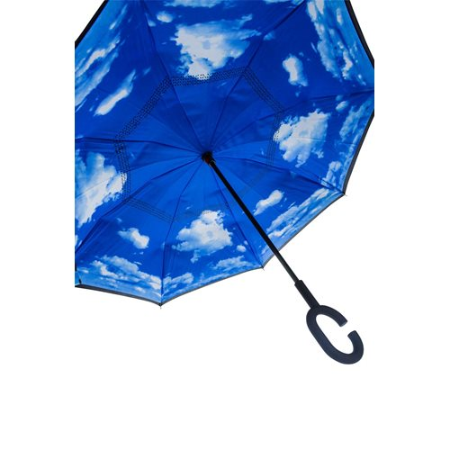United Entertainment Double Layer Inverted Umbrella with Clouds