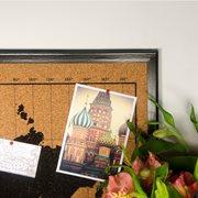 Milimetrado - World Map Corkboard - with Wooden Frame - Black/Black - 70x50 cm