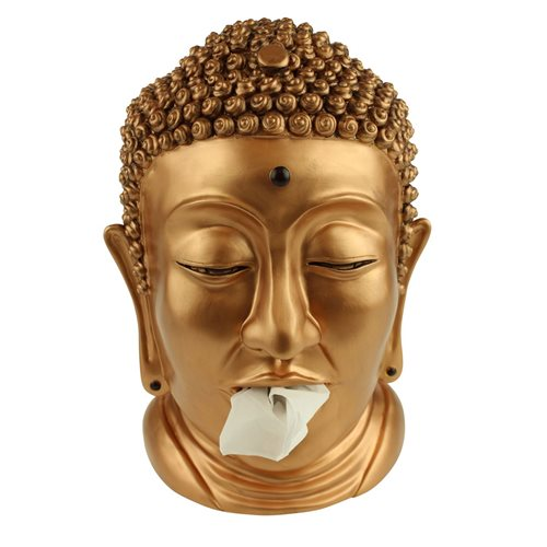 Rotary Hero Buddha Tissue box Holder - Brass