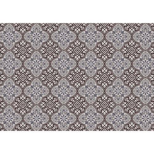 Exclusive Edition Teppich Muster Blume - Grafik - Braun-Grau