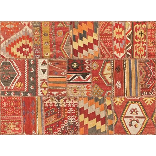 Exclusive Edition Tapijt Herfst 3 – Turks Patchwork - Oranje