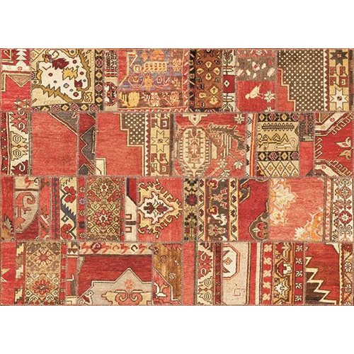 Exclusive Edition Tapijt Herfst 4 – Turks Patchwork - Oranje