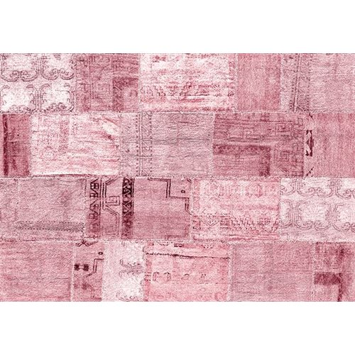 Exclusive Edition Tapijt Roze Romantiek – Turks Patchwork – Roze-Bordeaux