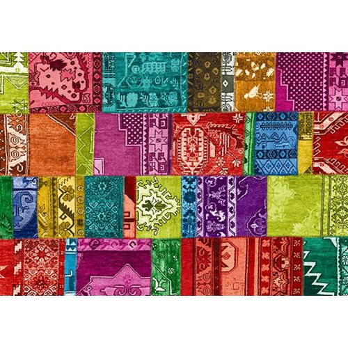Exclusive Edition Teppich Modern 4 - Türkisch Patchwork - Multi Farbe