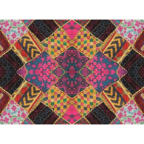 Exclusive Edition Carpet Small Squares – Patchwork Textiles – Multi Colour