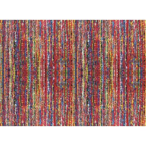 Exclusive Edition Teppich Farbige Linien - Patchwork Textil - Multi Farbe