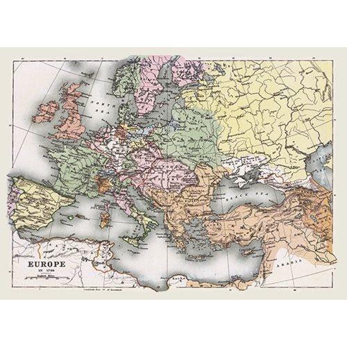 Exclusive Edition Tapijt Kaart Europa - Wereldkaarten