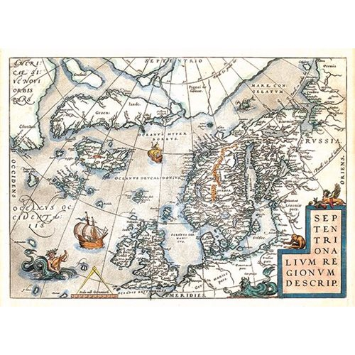 Exclusive Edition Tapijt Kaart Septentrionalium Regionum Descrip. - Wereldkaarten