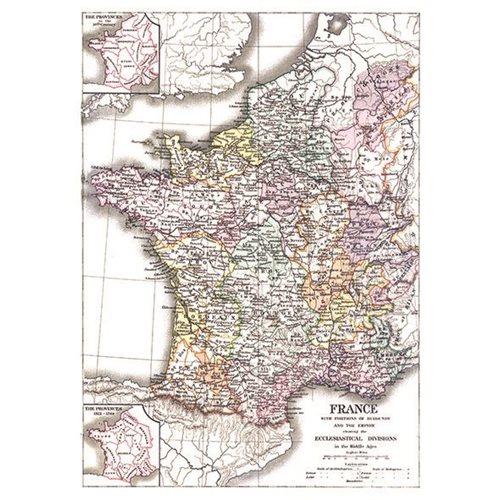 Exclusive Edition Teppich Karte Frankreich - Weltkarten