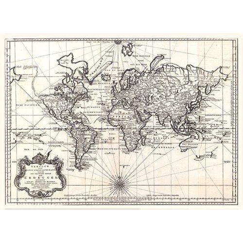 Exclusive Edition Tapijt Wereldkaart Erdkugel - Wereldkaarten
