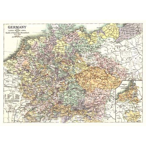 Exclusive Edition Tapijt Kaart Duitsland - Wereldkaarten