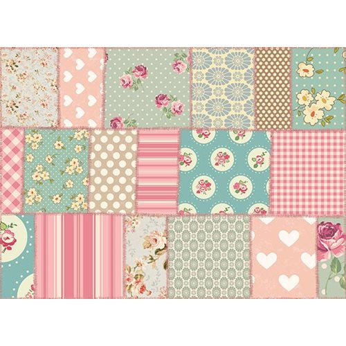Exclusive Edition Carpet Pink Flowers – Vintage – Pink-Blue